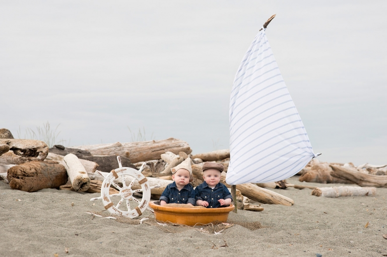 sailor photoshoot for two little boys full of imagination