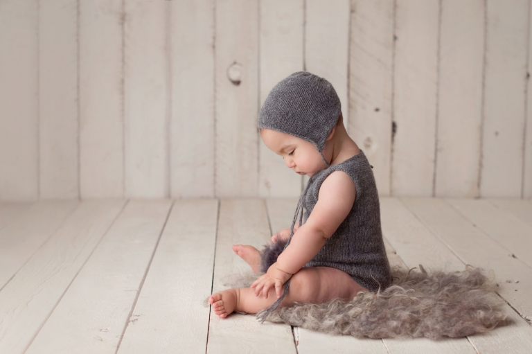 child portrait with knits and texture